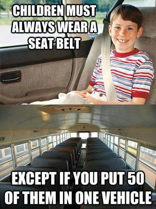 Buses are scary places