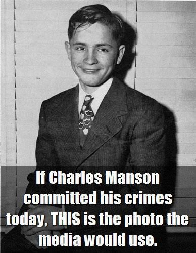 Charles Manson photo that media would use