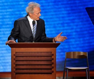 Clint Eastwood talks to Empty Chair