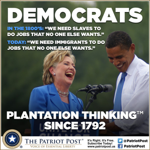Democrats slaves and illegal immigrants
