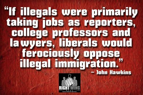 Exactly what would make Leftists turn against illegals