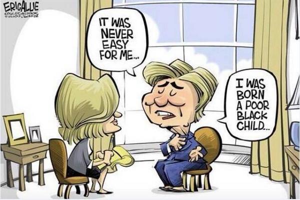 Hillary born a poor black child