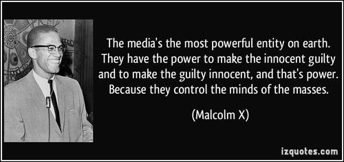Malcolm X on media power