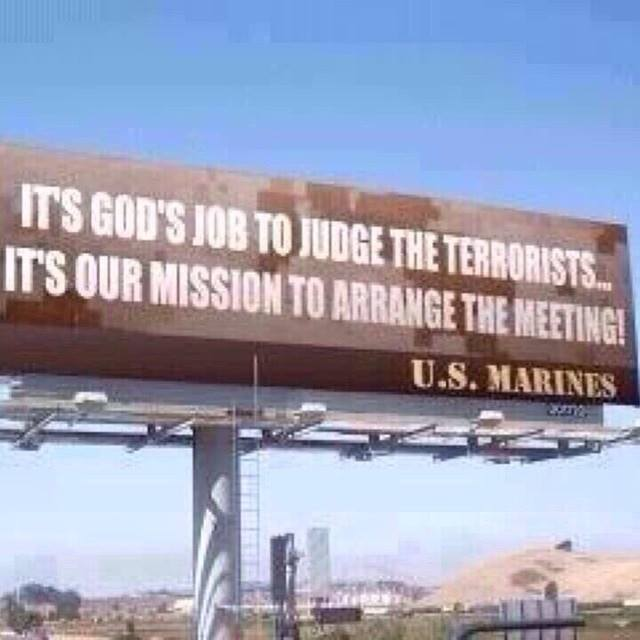 Marines get the terrorists to God