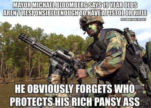 Michael Bloomberg and guns