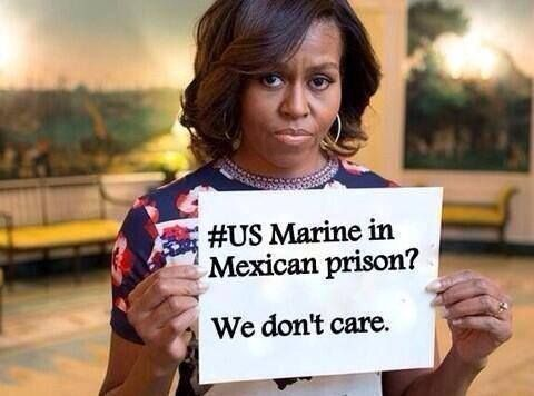 Michelle and the US Marine in Mexico