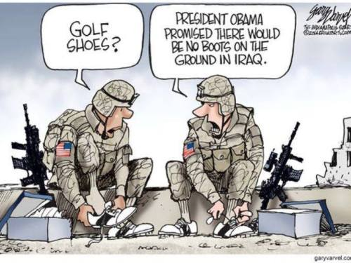 No boots on the ground in Iraq