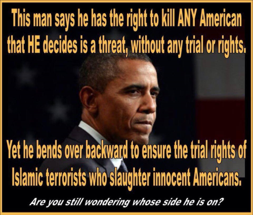 Obama's priorities re terrorists and citizens