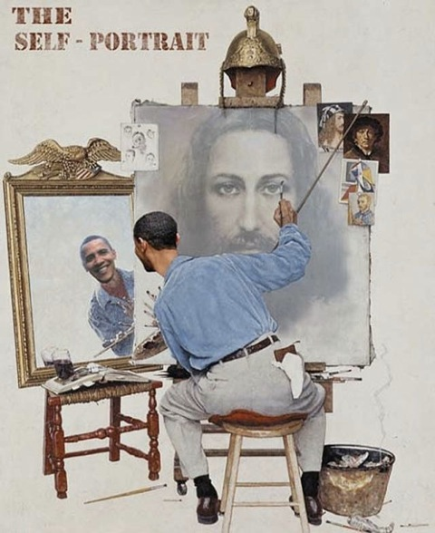 Obama's self-portrait