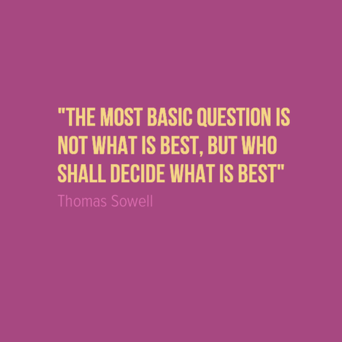 Sowell on the most basic question