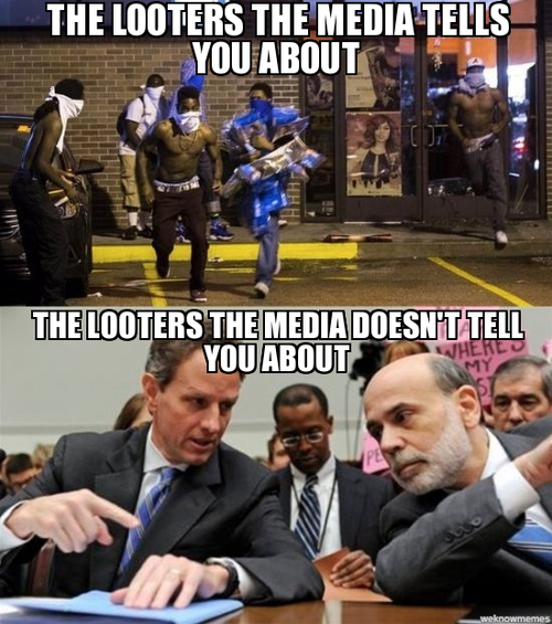 The really harmful looters in America