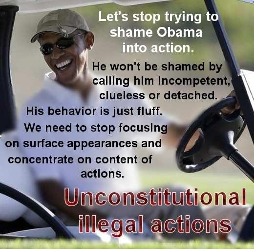 Unconstitutional illegal actions