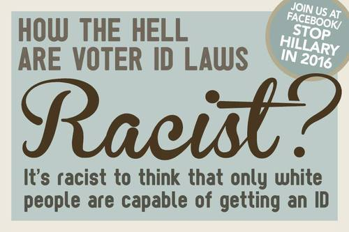 Voter ID laws are not racist
