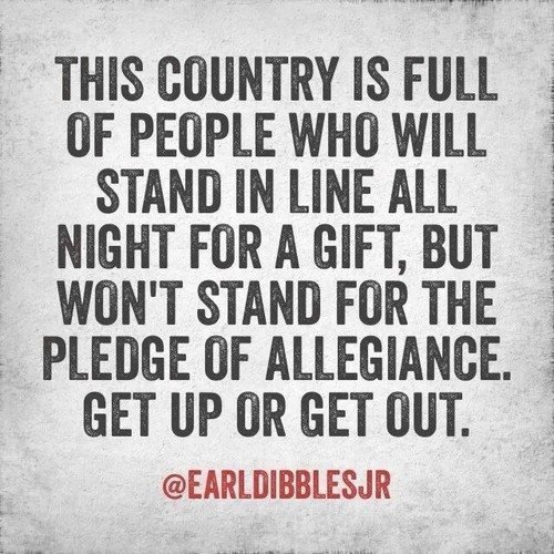 What people are willing to stand for