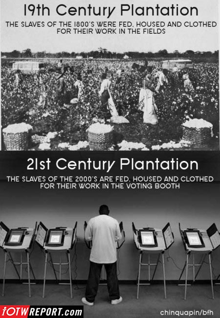 19th and 21st century Democrat slave plantations