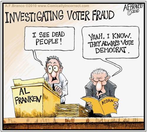 Al Franken sees dead people voting Democrat
