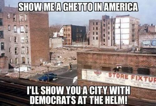 American ghettoes and Democrats