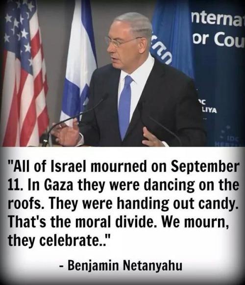 Benjamin Netanyahu on the moral divide between Israel and Palestinians
