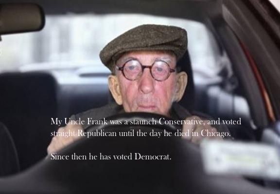 Dead uncle votes Democrat