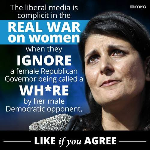 Democrats ignore whore insult to Nikki Haley
