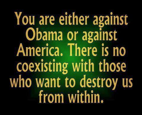 Either against America or against Obama