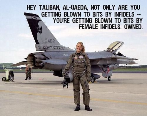 Female pilots bombing ISIS