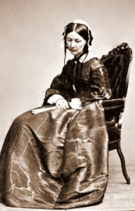 Florence Nightingale shortly after her return to England from Scutari