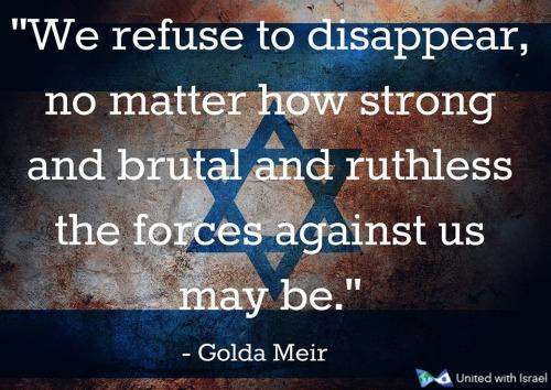 Golda Meir on Israel's survival