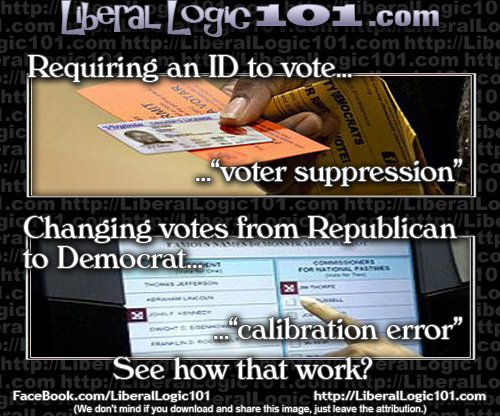 ID voting bad and broken voting machines a glitch