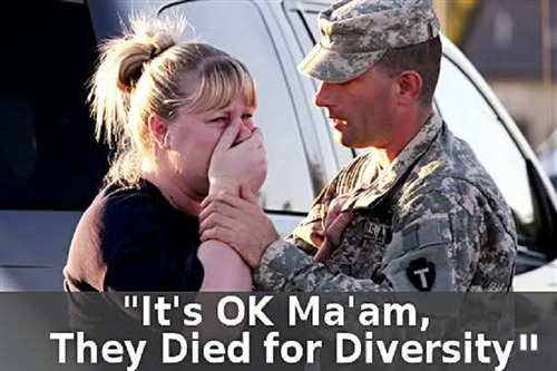 It's okay they died for diversity