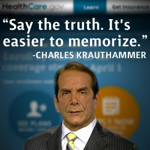 Krauthammer truth easier to memorize