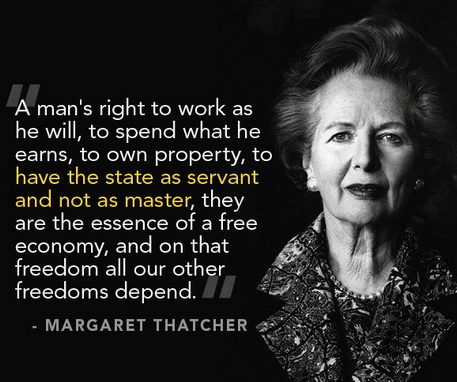 Margaret Thatcher on essential freedoms