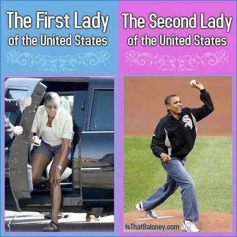 Obama as the second lady of the United States