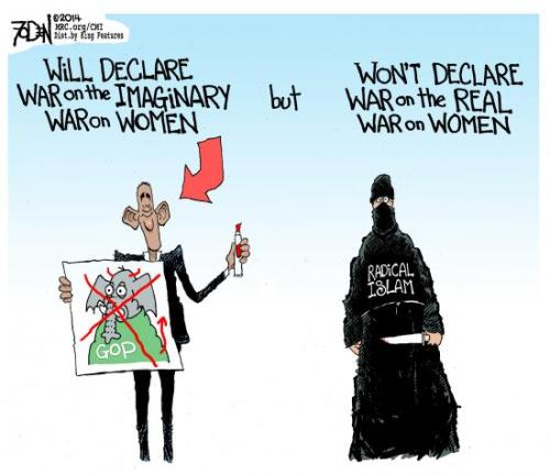 Obama fights only imaginary war on women