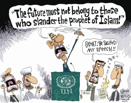 Obama on the future and slander of Islam