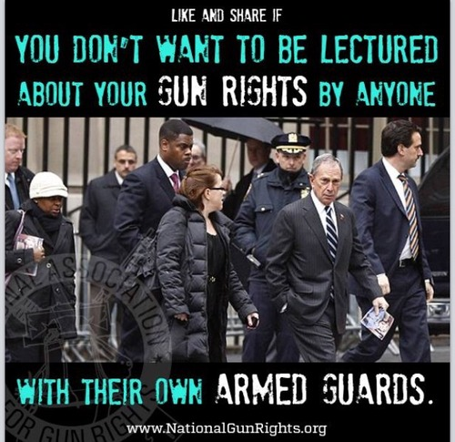 People with armed guards shouldn't lecture about gun rights