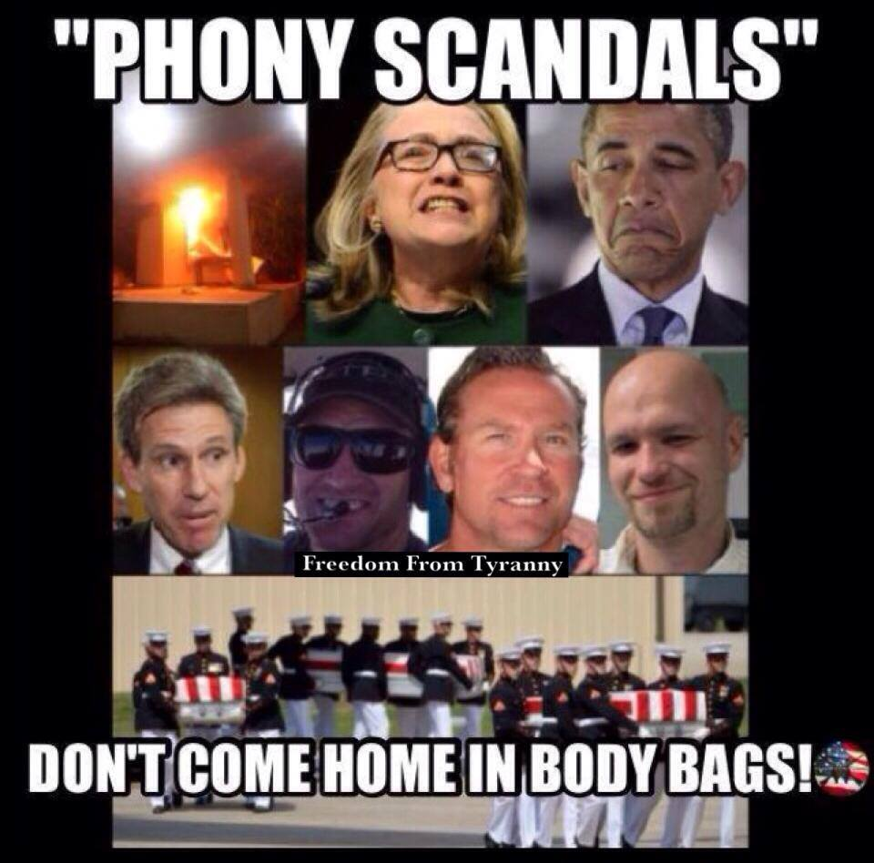 Phony scandals don't come home it body bags