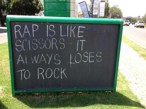 Rap loses to rock