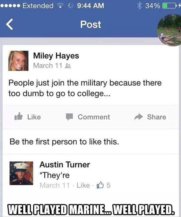 Smart people join the Marines