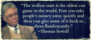 Welfare state as a con game