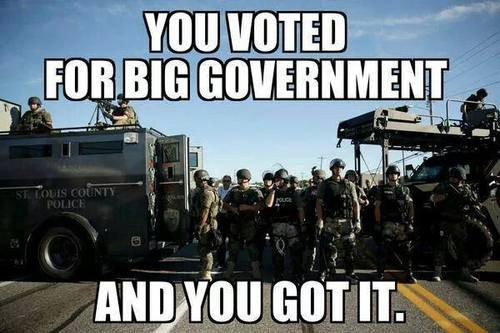 You voted for and got big government 2
