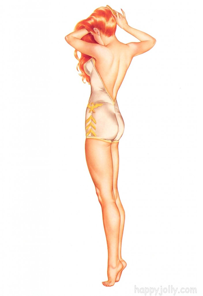 Alberto Vargas woman in swimsuit