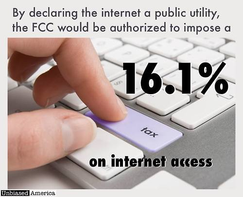 Calling the internet a public utility can lead to a 16 percent tax