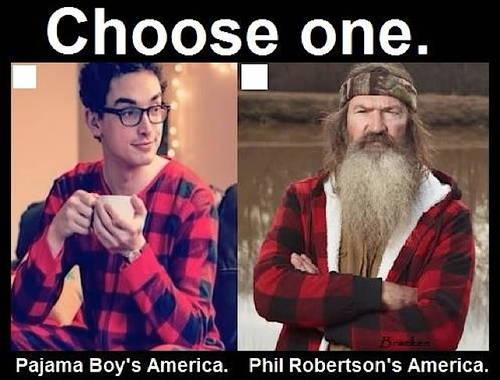 Choose one America pajama boy or Phil Robertson