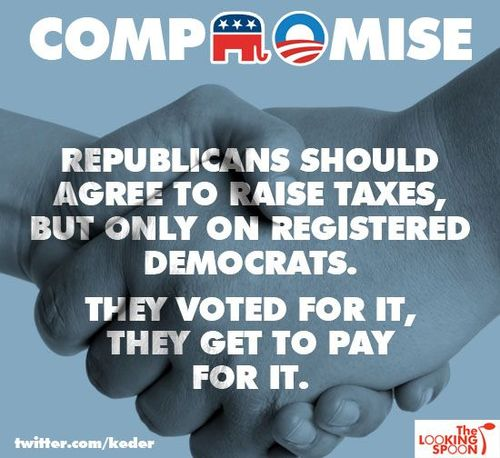Compromise - Republicans should raise taxes on registered Democrats