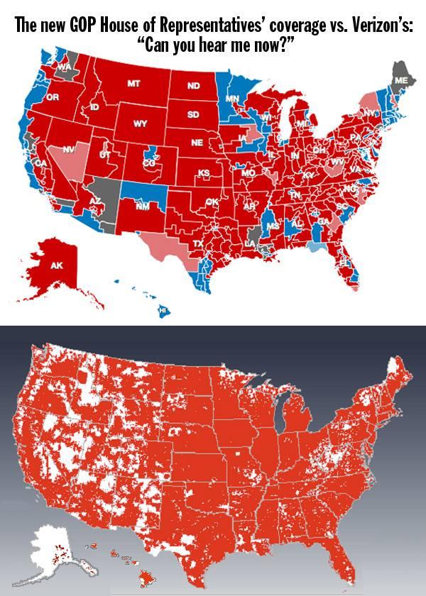Electoral map vs Verizon coverage map