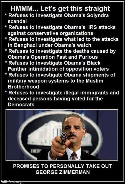 Eric Holder's priorities