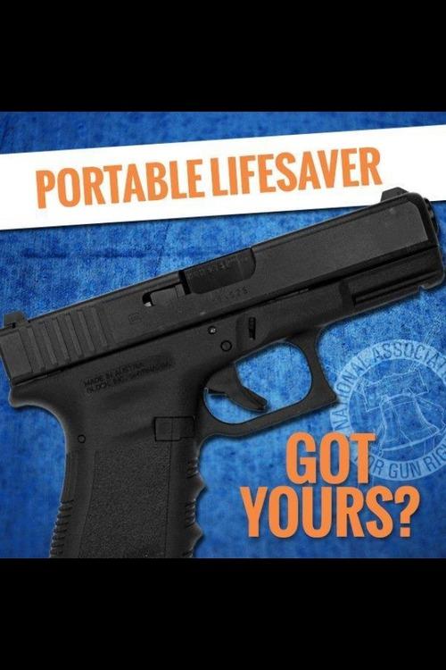 Gun as a portable life saver