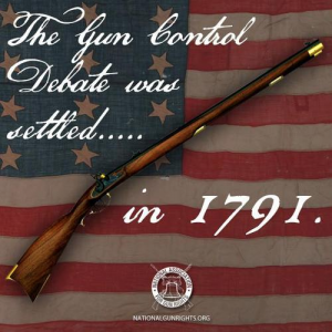 Gun control debate settled in 1791