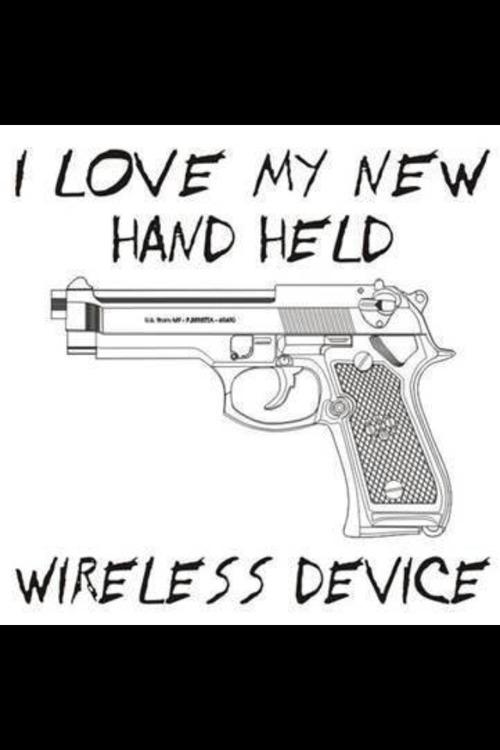 Gun is handheld wireless device